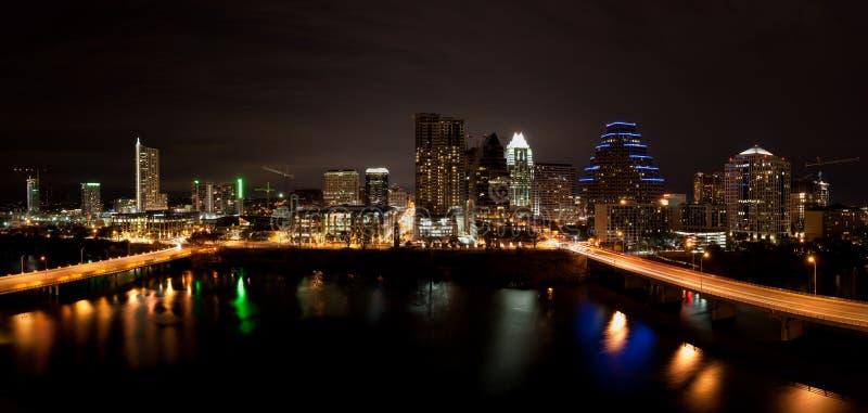 ноча texas городского пейзажа austin городская стоковые изображения rf