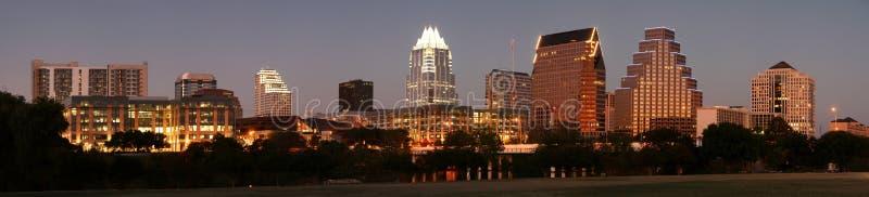 ноча texas austin городская стоковая фотография rf