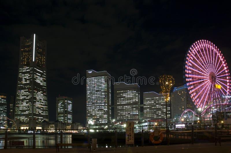 ноча yokohama стоковые фотографии rf