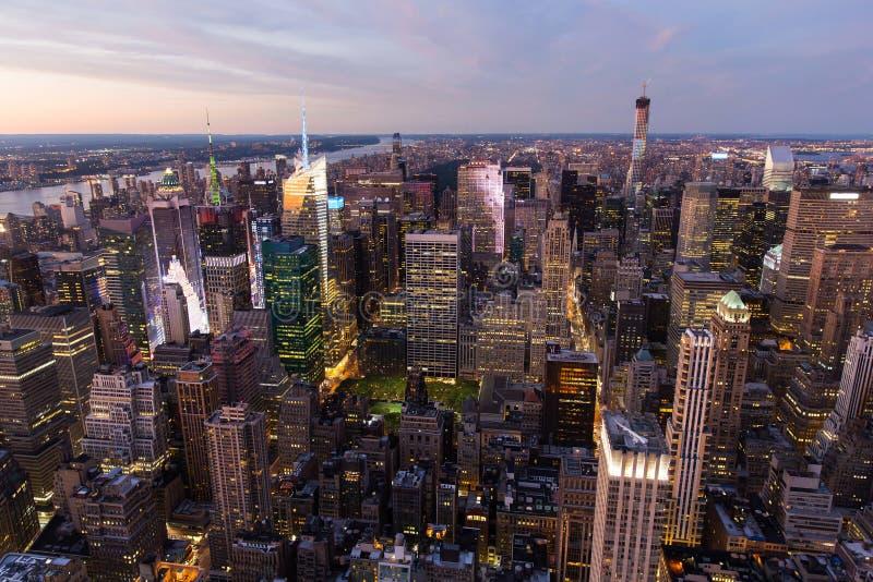 ноча york города новая стоковое фото rf