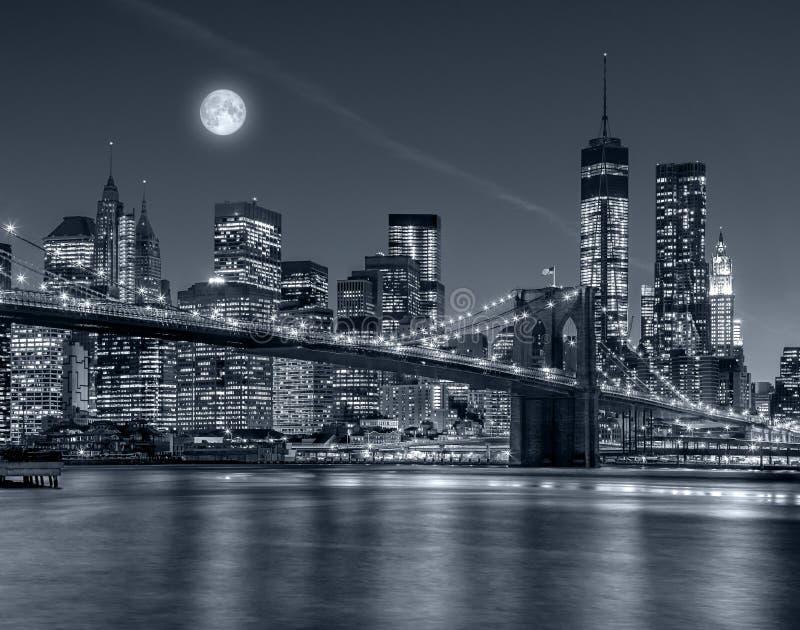 ноча york города новая стоковое изображение rf