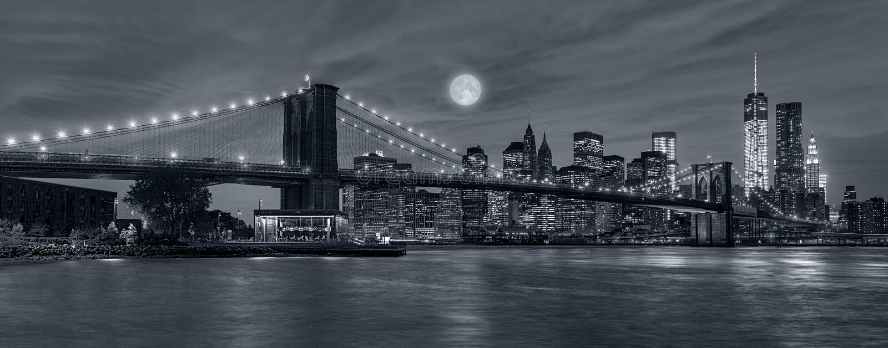 ноча york города новая стоковое изображение