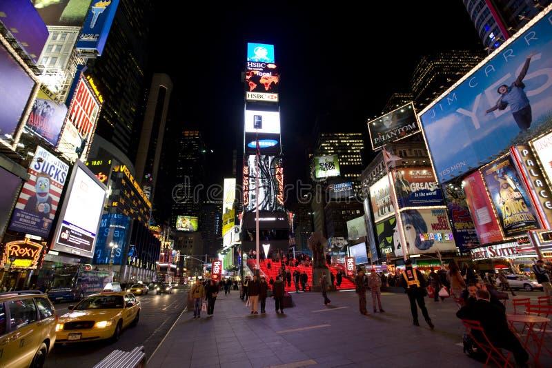 ноча york broadway новая стоковая фотография rf