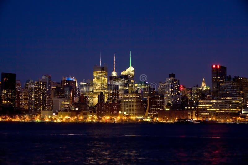 ноча york manhattan города новая стоковое фото