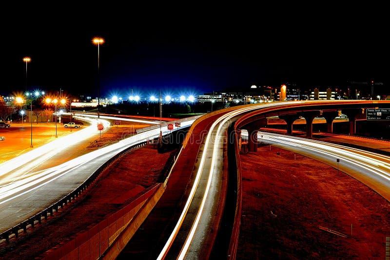 Ночи города в tx Lubbock стоковая фотография rf