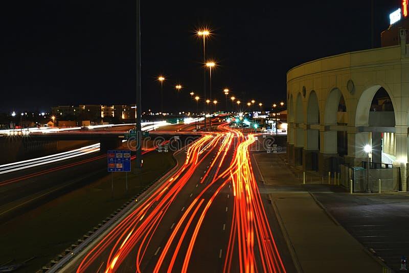 Ночи города lubbock стоковое фото rf