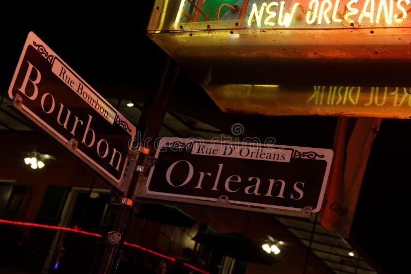 Ночи Нового Орлеана стоковое фото