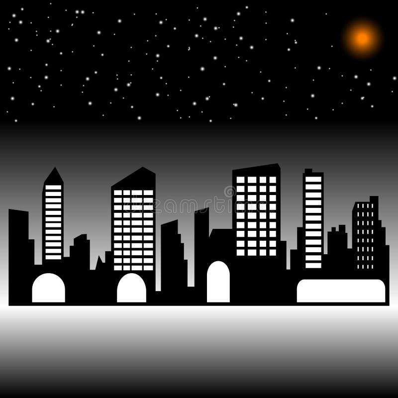 ночи latvia города рождества сказ fairy захолустный скоро подобный к силуэт стоковая фотография rf