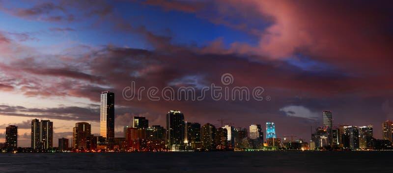 ночи miami стоковое фото rf