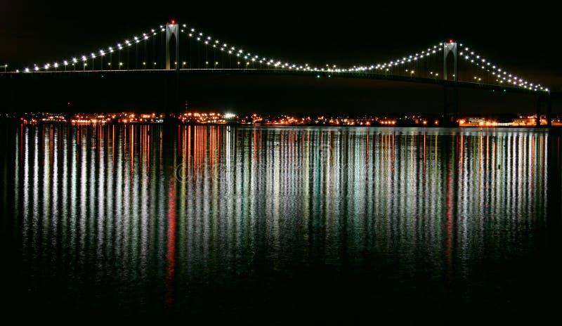 ночи newport стоковая фотография
