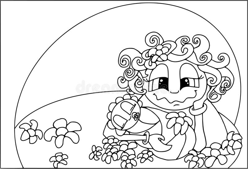 Ночи ` s мамы, младенец спать, счастливая семья Расцветка на белизне бесплатная иллюстрация