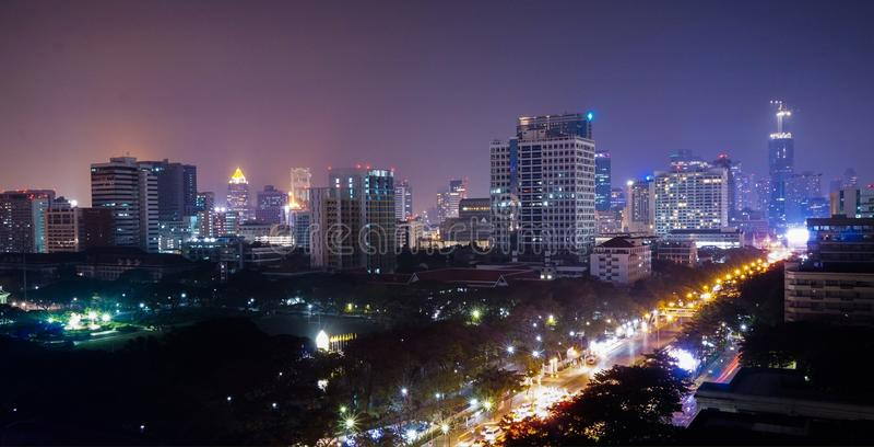 Ночная жизнь Бангкока стоковое фото rf