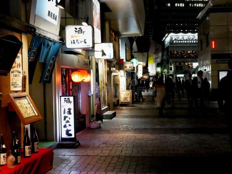 Ночная жизнь токио стоковые фотографии rf