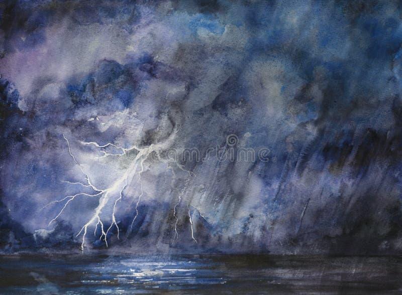 ночное небо бурное бесплатная иллюстрация