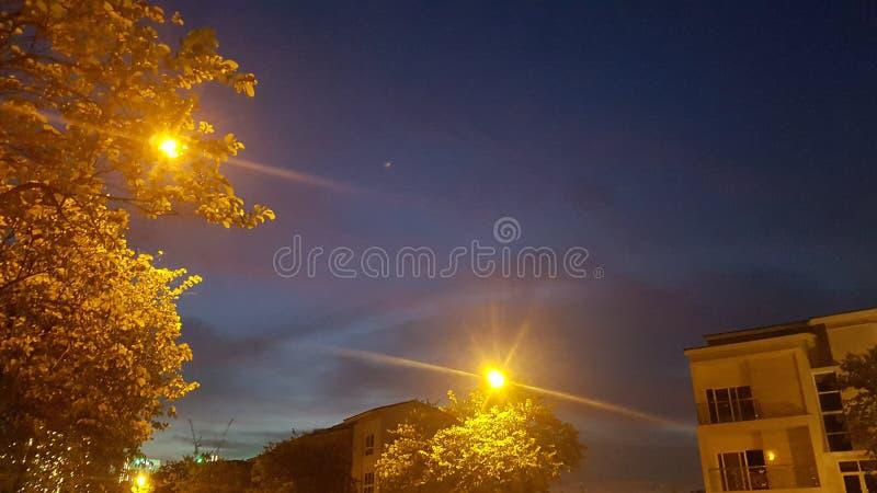 Ночное небо в Ханое стоковые фотографии rf