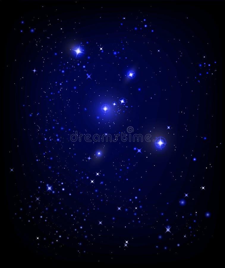 ночное небо звёздное иллюстрация вектора