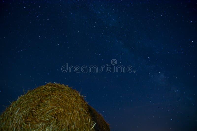 Ночное небо от земли стоковые фотографии rf
