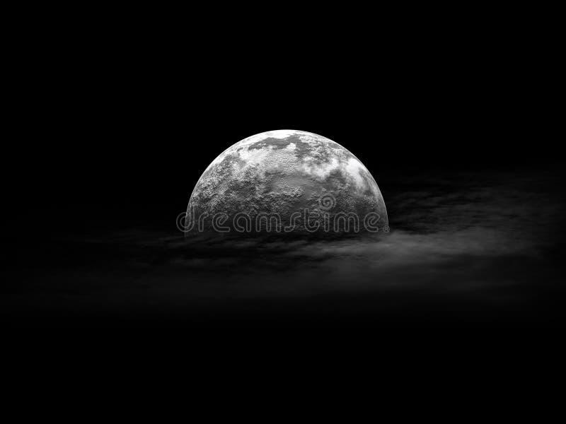 ночное небо полнолуния стоковое фото