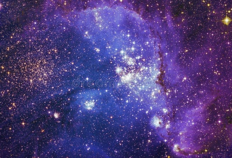 Ночное небо с предпосылкой межзвёздного облака звезд облаков Элементы изображения поставленные NASA иллюстрация штока