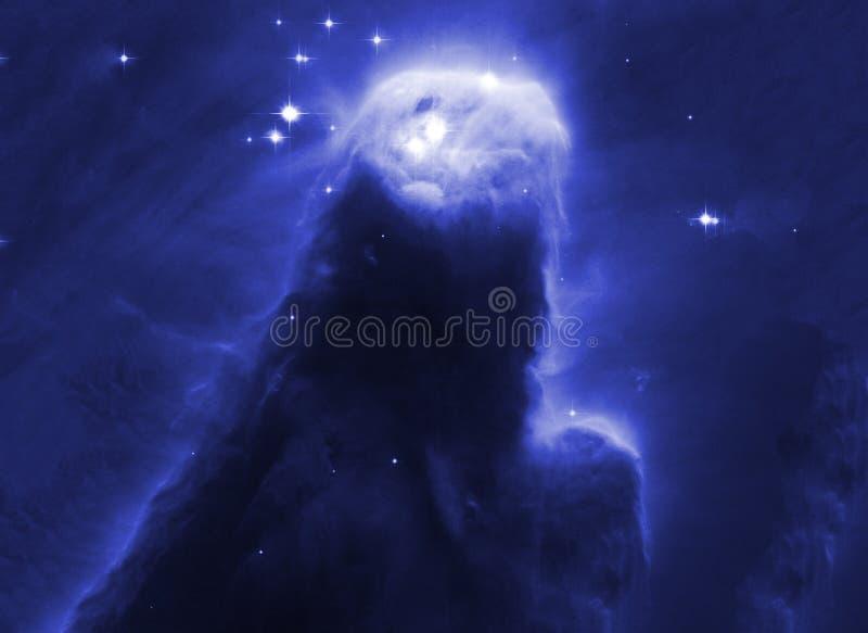 Ночное небо с предпосылкой межзвёздного облака звезд облаков Элементы изображения поставленные NASA бесплатная иллюстрация