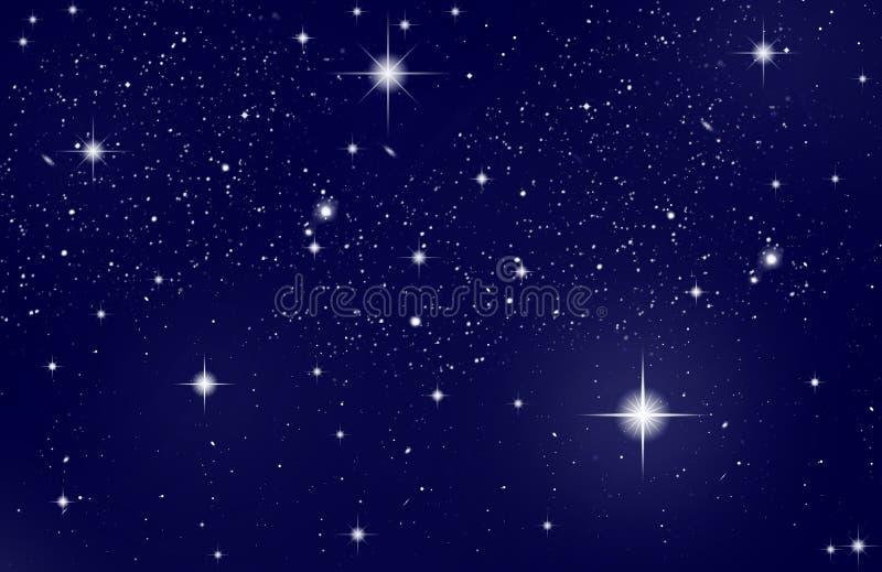 ночное небо иллюстрация штока