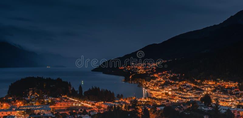 Ночные сцены Квинтауна стоковое изображение