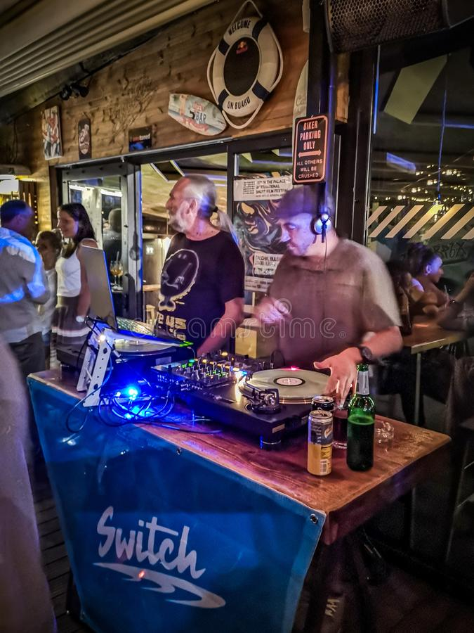 Ночь из партии DJ стоковое изображение
