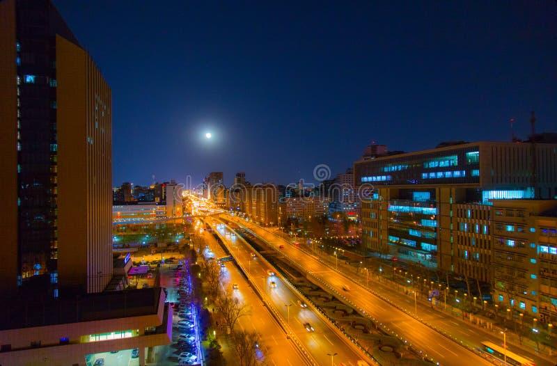 Ночь луны в Пекин стоковое изображение rf