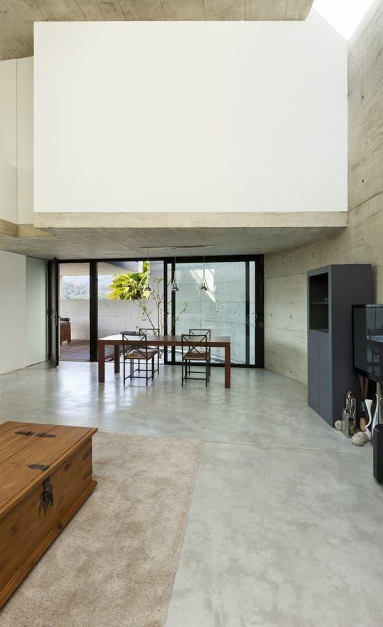 нутряная живущая комната широко стоковая фотография rf