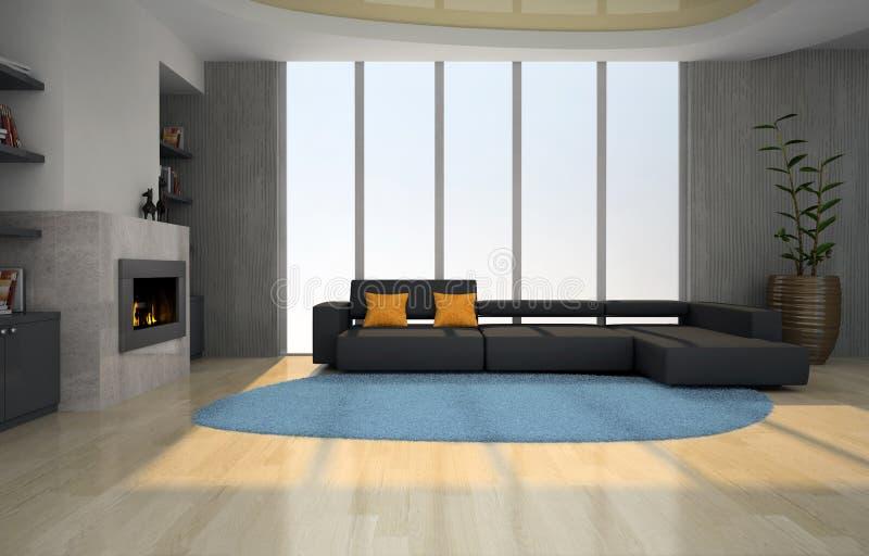 нутряная живущая комната иллюстрация штока