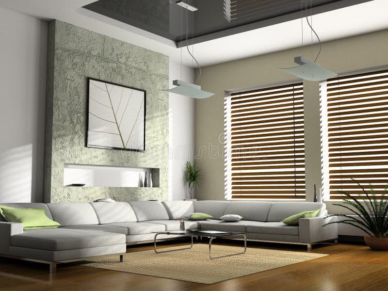 нутряная живущая комната стоковые изображения rf