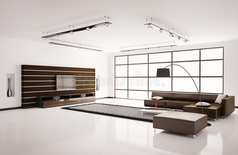нутряная живущая комната 3d иллюстрация вектора