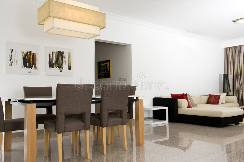 нутряная живущая комната стоковое изображение