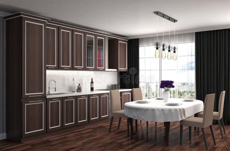 нутряная кухня иллюстрация 3d бесплатная иллюстрация