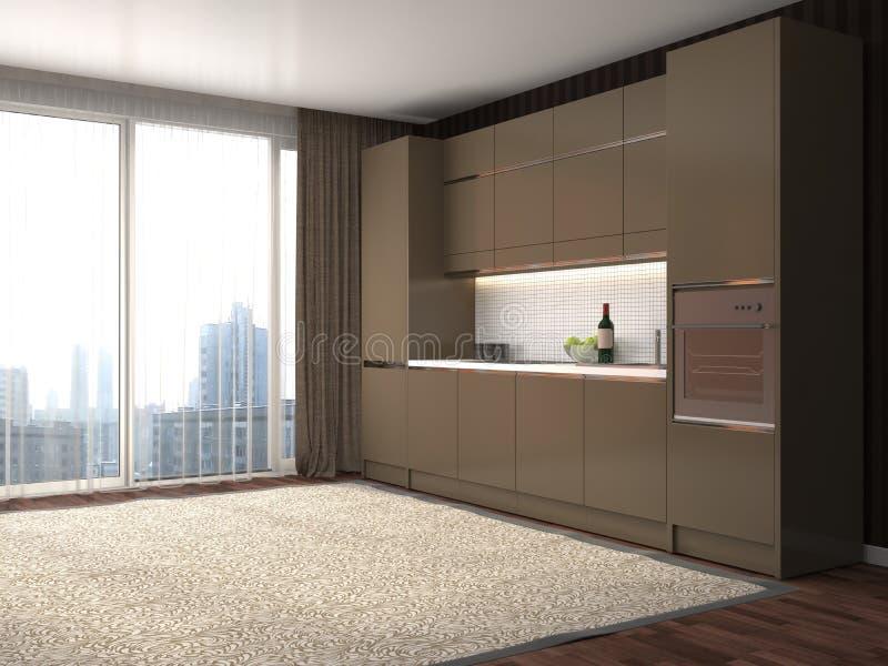 нутряная кухня иллюстрация 3d иллюстрация штока