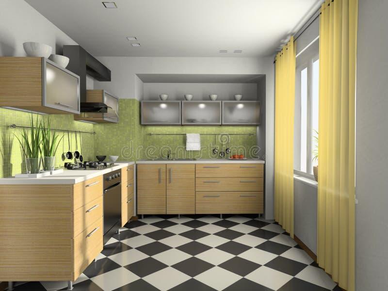 нутряная кухня самомоднейшая иллюстрация вектора