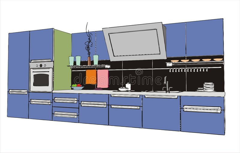 нутряная кухня иллюстрация штока