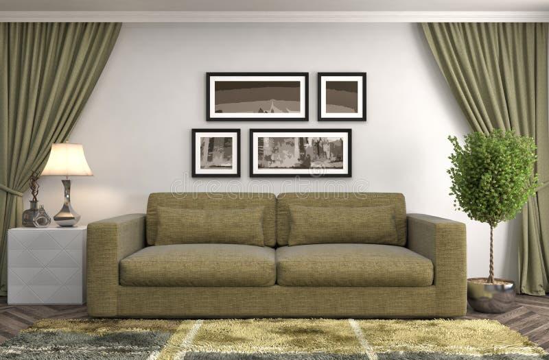 нутряная софа иллюстрация 3d бесплатная иллюстрация