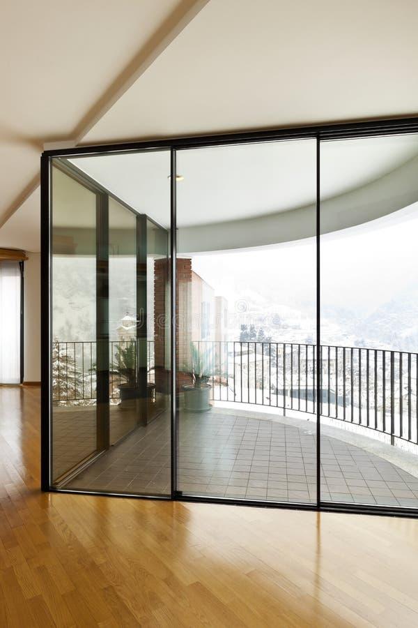 нутряное большое окно стоковая фотография