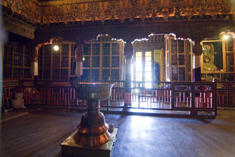 нутряное potala дворца lhasa стоковое изображение rf