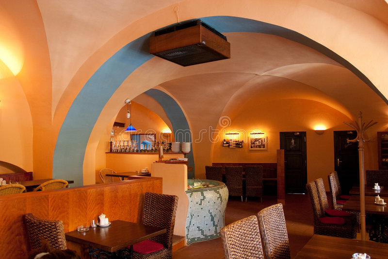 нутряной итальянский ресторан стоковая фотография rf