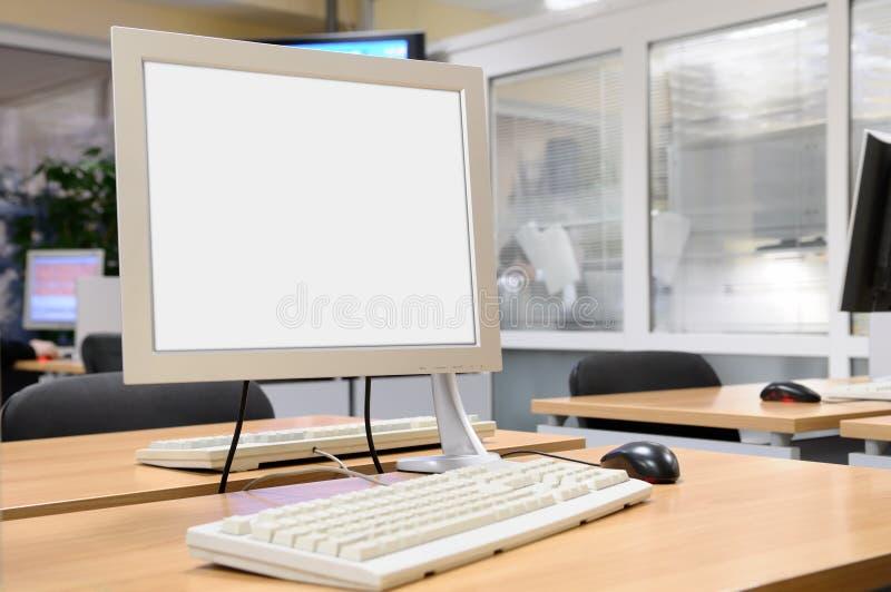 нутряной экран офиса монитора стоковая фотография