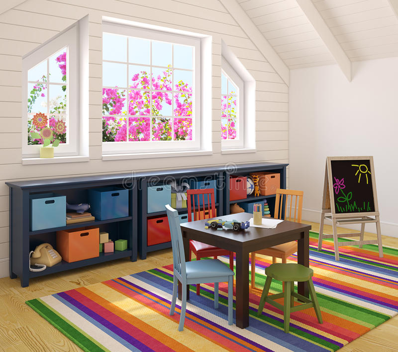 нутряной playroom иллюстрация штока