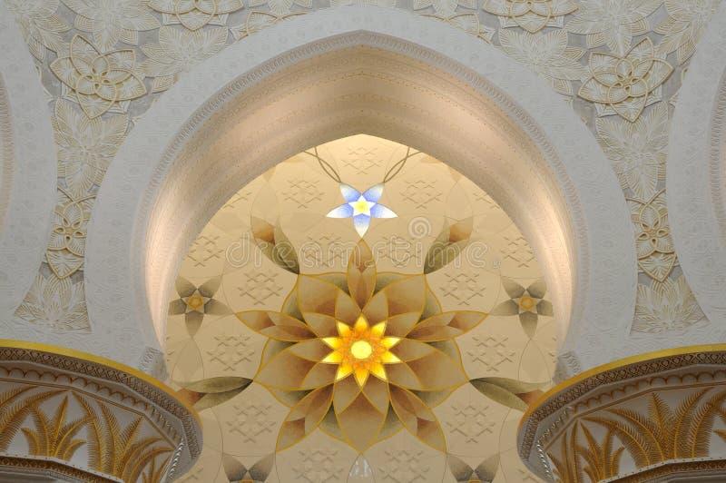 нутряной zayed шейх мечети стоковые фото