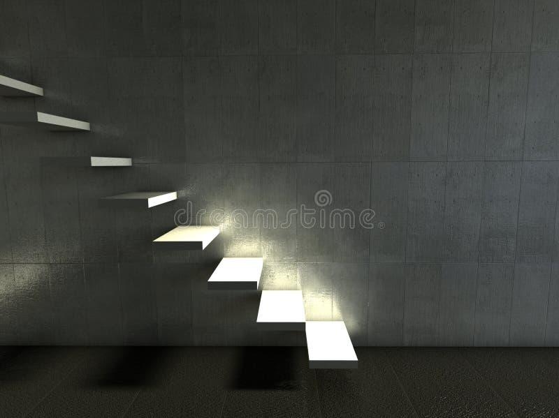 нутряные самомоднейшие лестницы 3d бесплатная иллюстрация