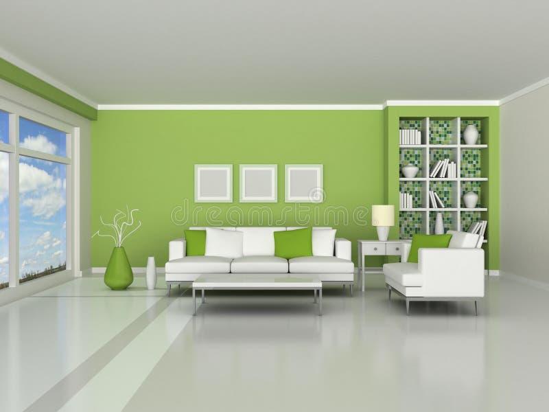 нутряные самомоднейшие 3d представляют комнату иллюстрация штока