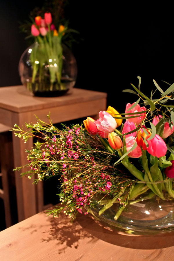 нутряные тюльпаны стоковые фото
