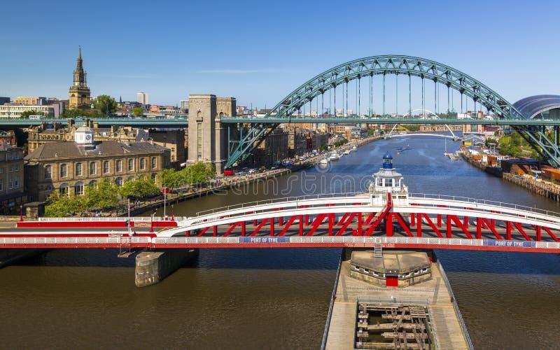 Ньюкасл на Tyne, Tyne и носке, Англии стоковые изображения