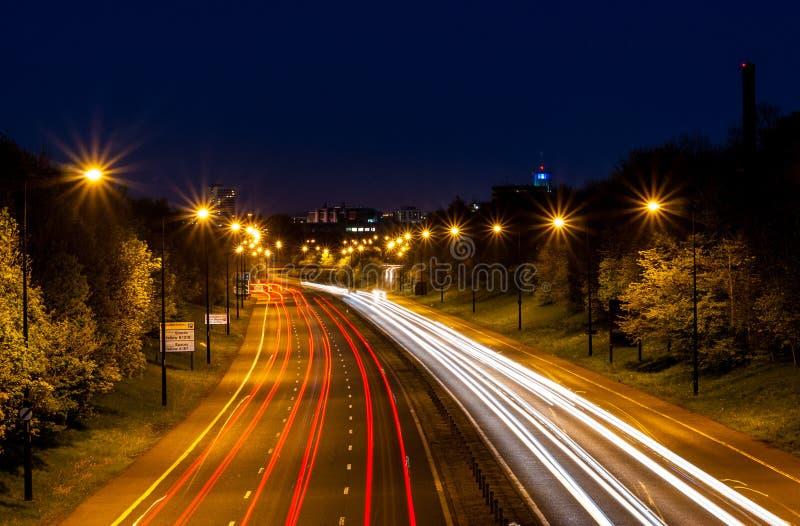 Ньюкасл на ноче Tyne стоковые изображения