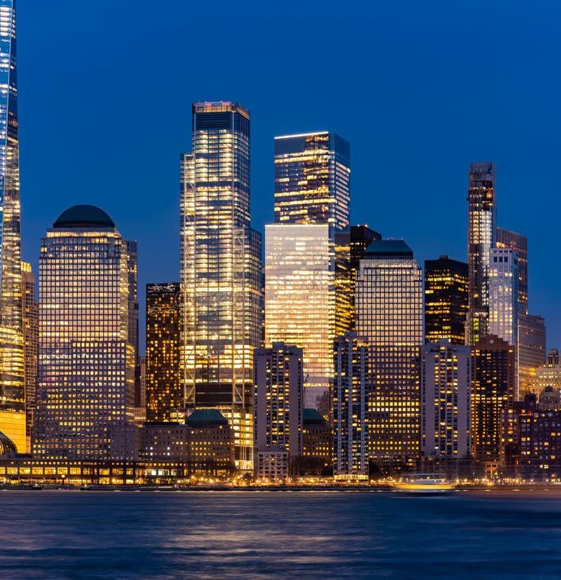 Нью-Йорк более низкий Манхэттен стоковые изображения rf